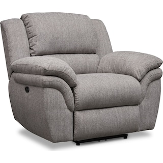 Aldo Dual-Power Recliner - Gray