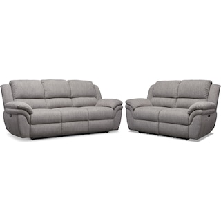 Aldo Power Reclining Sofa and Loveseat Set