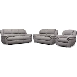 Aldo Manual Sofa + Loveseat + FREE RECLINER