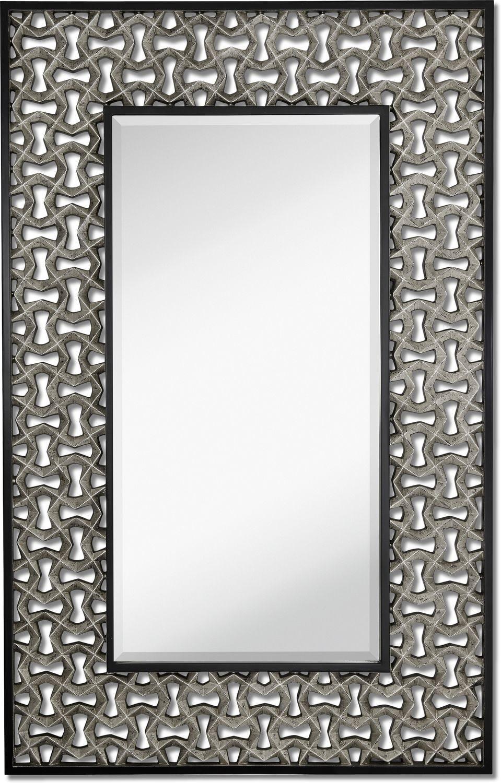 Home Accessories - Silver Leaf Wall Mirror