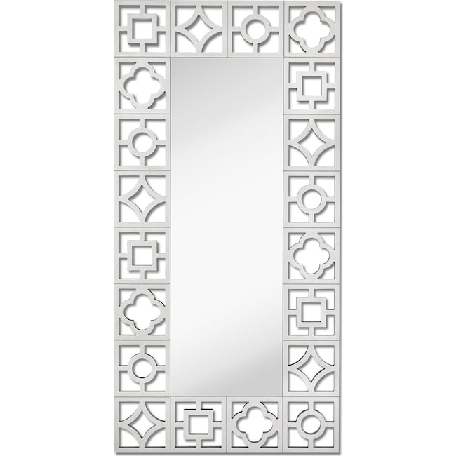 Home Accessories - Silver Leaf Floor Mirror