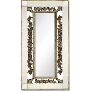 Antique Floor Mirror - Gold