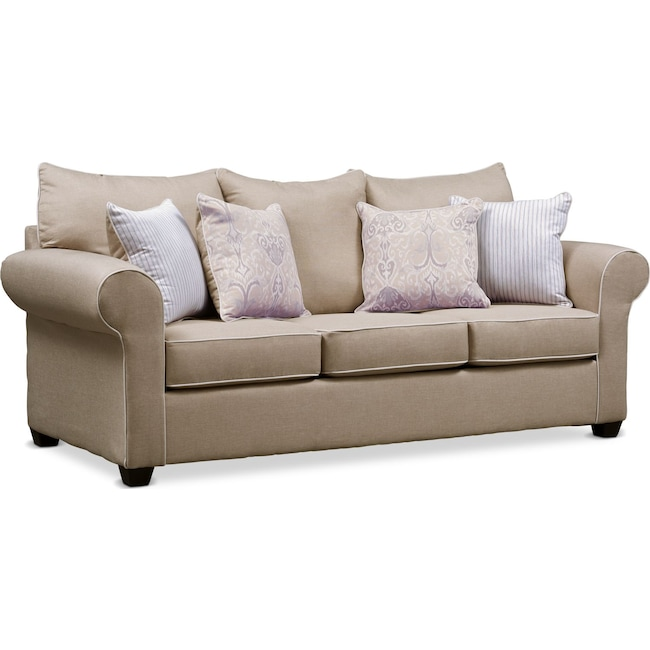 Living Room Furniture - Carla Queen Sleeper Sofa