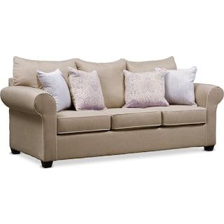 Carla Queen Memory Foam Sleeper Sofa - Beige