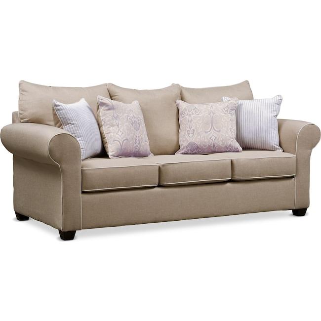 Living Room Furniture - Carla Queen Sleeper Sofa