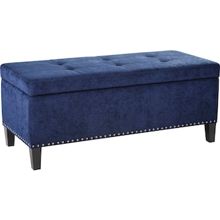 Eleanor Upholstered Storage Bench - Blue