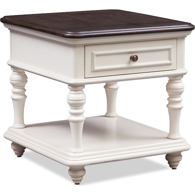 Accent and Occasional Furniture - Charleston End Table - White