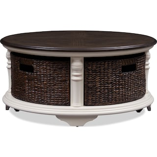 Charleston Round Coffee Table - White