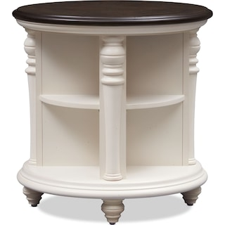 Charleston Round End Table - White