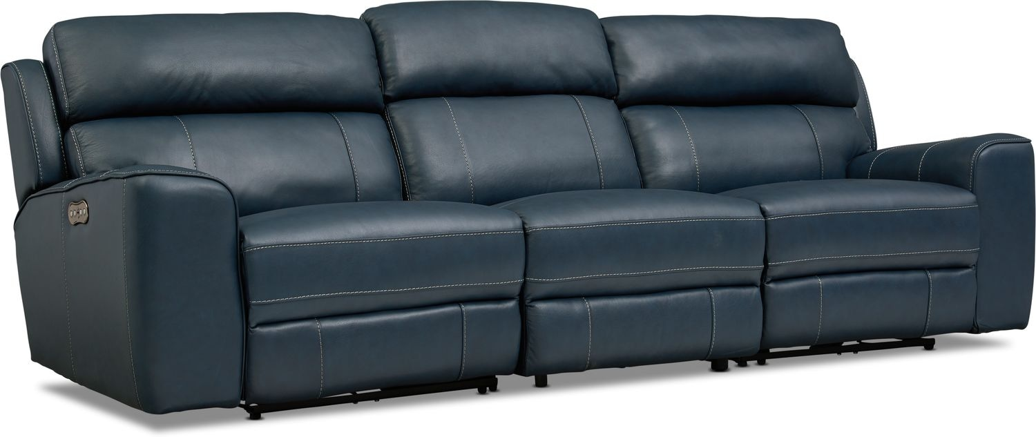 Living Room Furniture - Newport 3-Piece Power Reclining Sofa