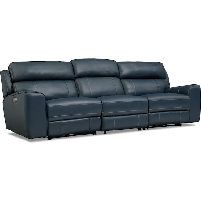 Living Room Furniture - Newport 3-Piece Dual-Power Reclining Sofa