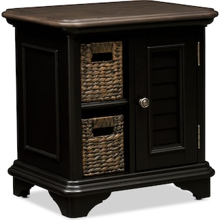 Charleston Chairside Table - Black