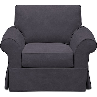Sawyer Slipcover Chair - Boulder Black