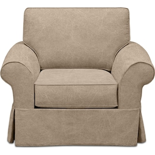 Sawyer Slipcover Chair - Boulder Taupe