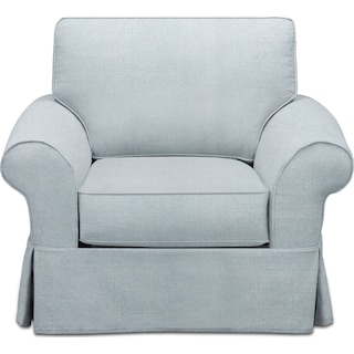 Sawyer Slipcover Chair - Fremont Sky