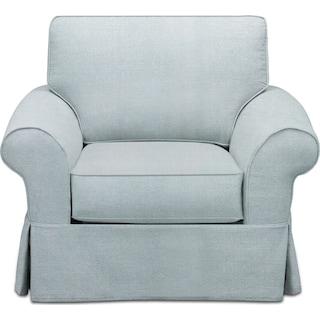 Sawyer Slipcover Chair - Intern Sky