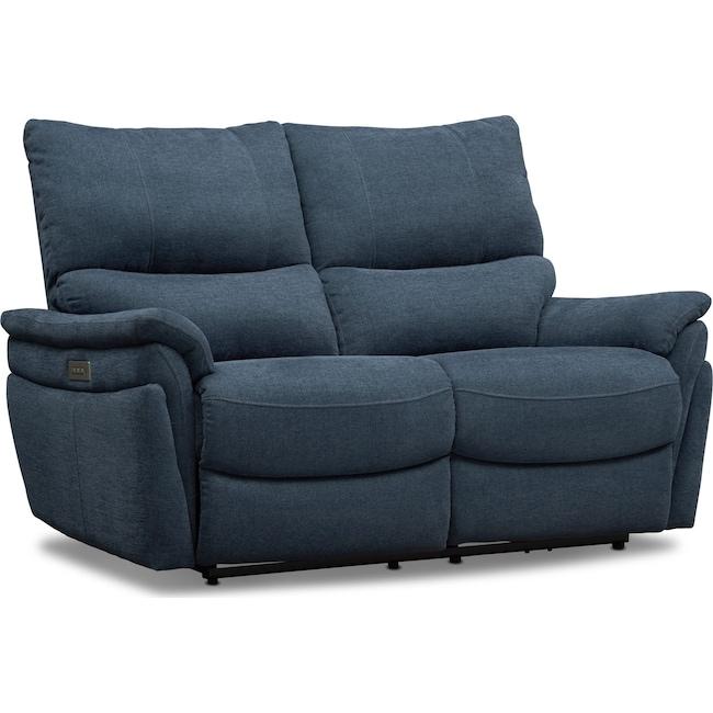 Living Room Furniture - Maddox Triple Power Reclining Loveseat