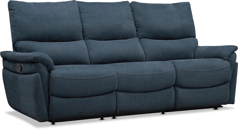 Living Room Furniture - Maddox 2-Piece Manual Reclining Sofa