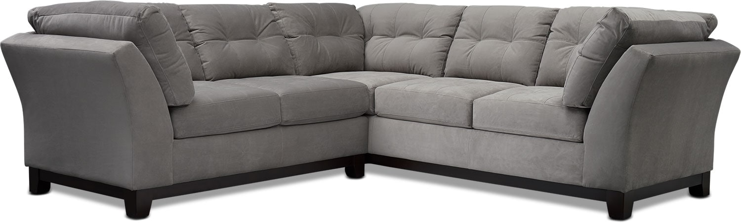 Living Room Furniture - Sebring 2-Piece Sectional with Loveseat