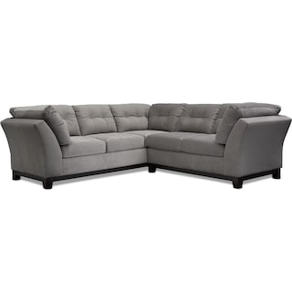 Sebring 2-Piece Small Sectional with Right-Facing Loveseat - Gray