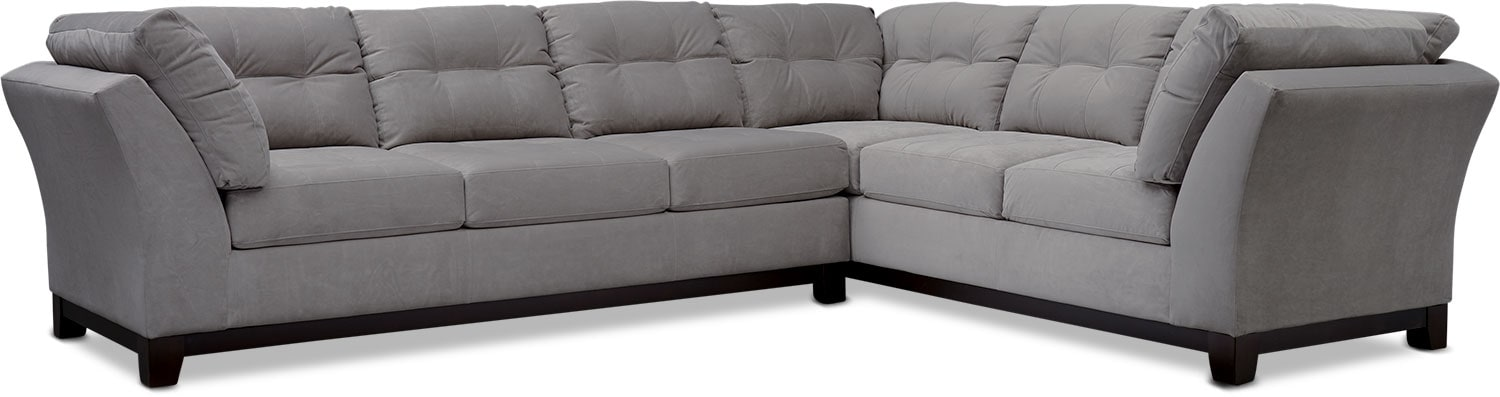 Living Room Furniture - Sebring 2-Piece Sectional with Sofa