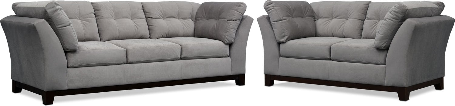Living Room Furniture - Sebring Sofa and Loveseat Set