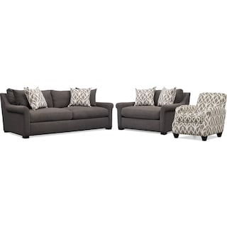 Mckenna Sofa Loveseat And Accent Chair Set Value City