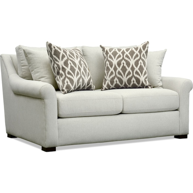 Living Room Furniture - Robertson Loveseat - Gray