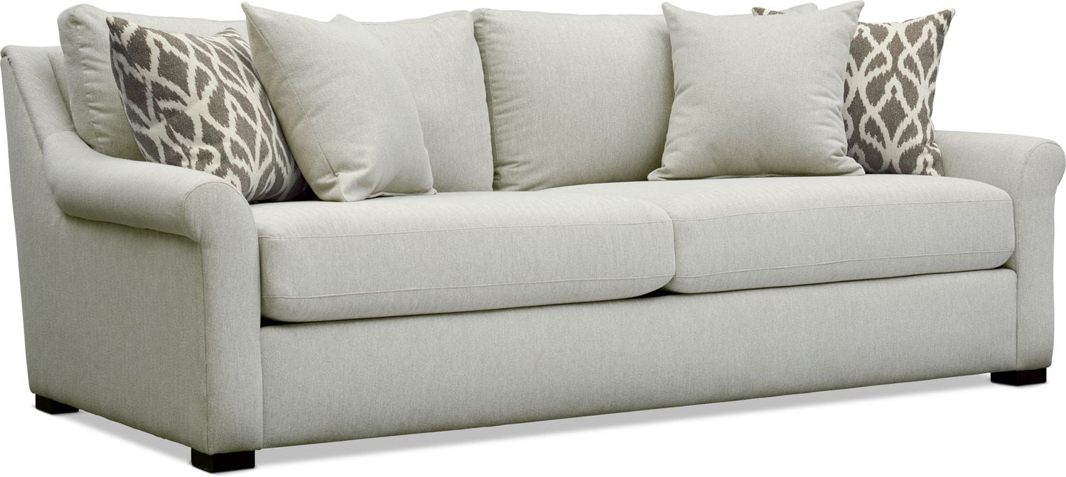 Living Room Furniture - Robertson Sofa - Gray
