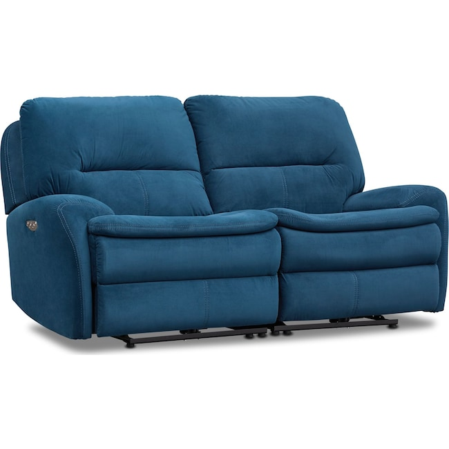 Living Room Furniture - Cruiser 2-Piece Dual Power Reclining Loveseat