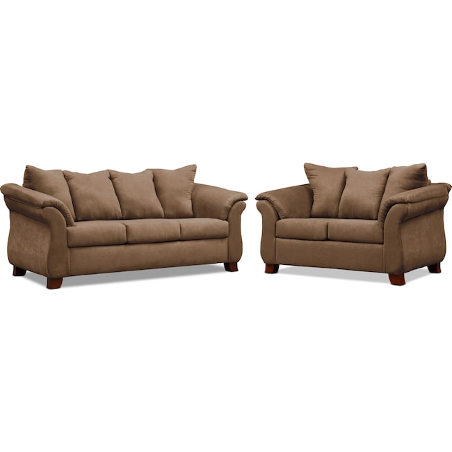 Living Room Furniture - Adrian Sofa and Loveseat Set