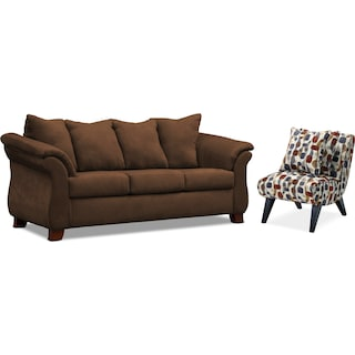 Adrian Sofa and Accent Chair Set