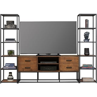 "Carter 64"" Entertainment Wall - Pine"