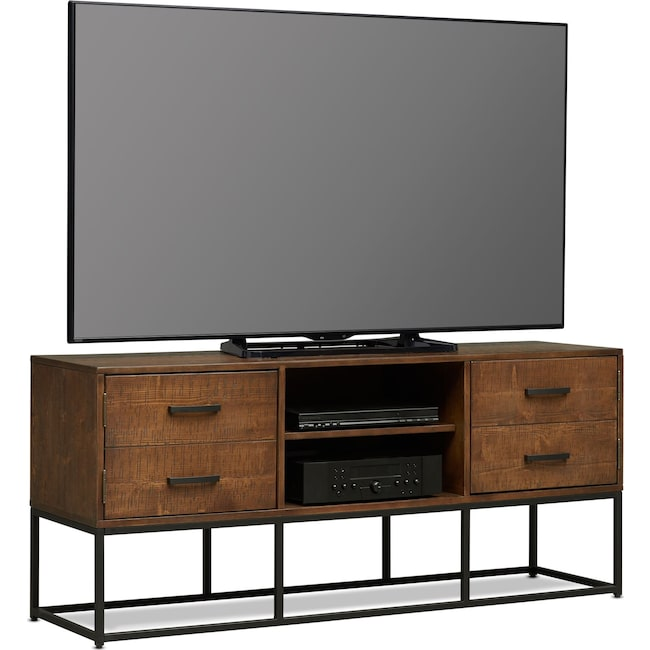 "Entertainment Furniture - Carter 64"" TV Stand - Pine"