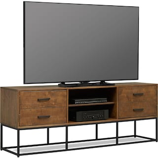 "Carter 74"" TV Stand - Pine"