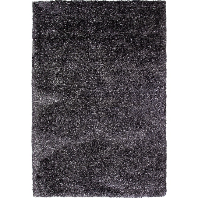 Rugs - Lifestyle Shag 5' x 8' Area Rug - Charcoal