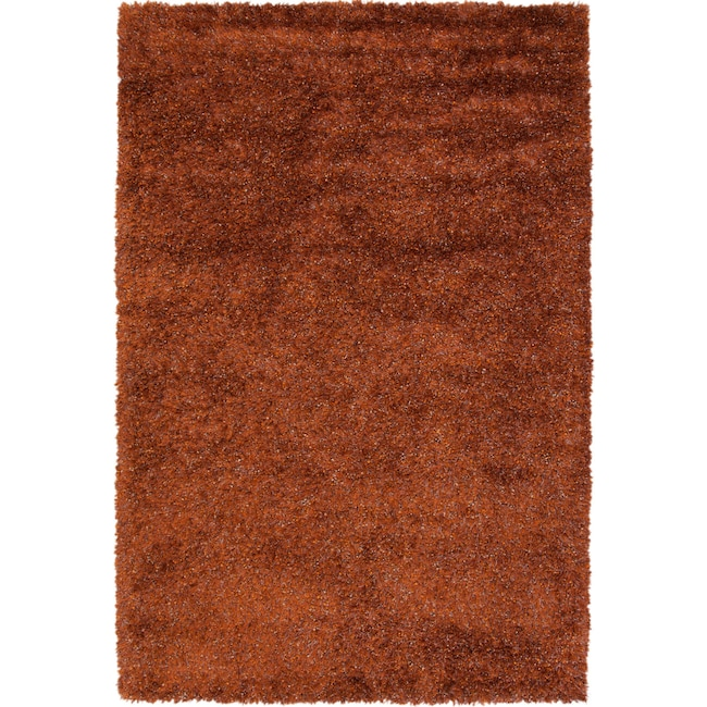 Rugs - Lifestyle Shag 5' x 8' Area Rug - Rust