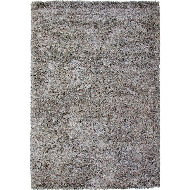 Rugs - Lifestyle Shag 8' x 10' Area Rug - Silvery Teal