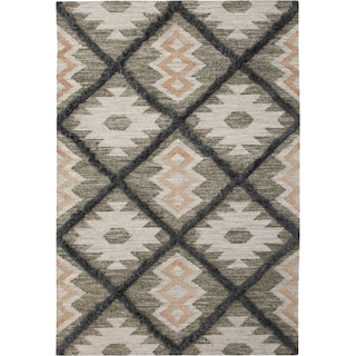 Fes 5' x 8' Area Rug - Blue/Green