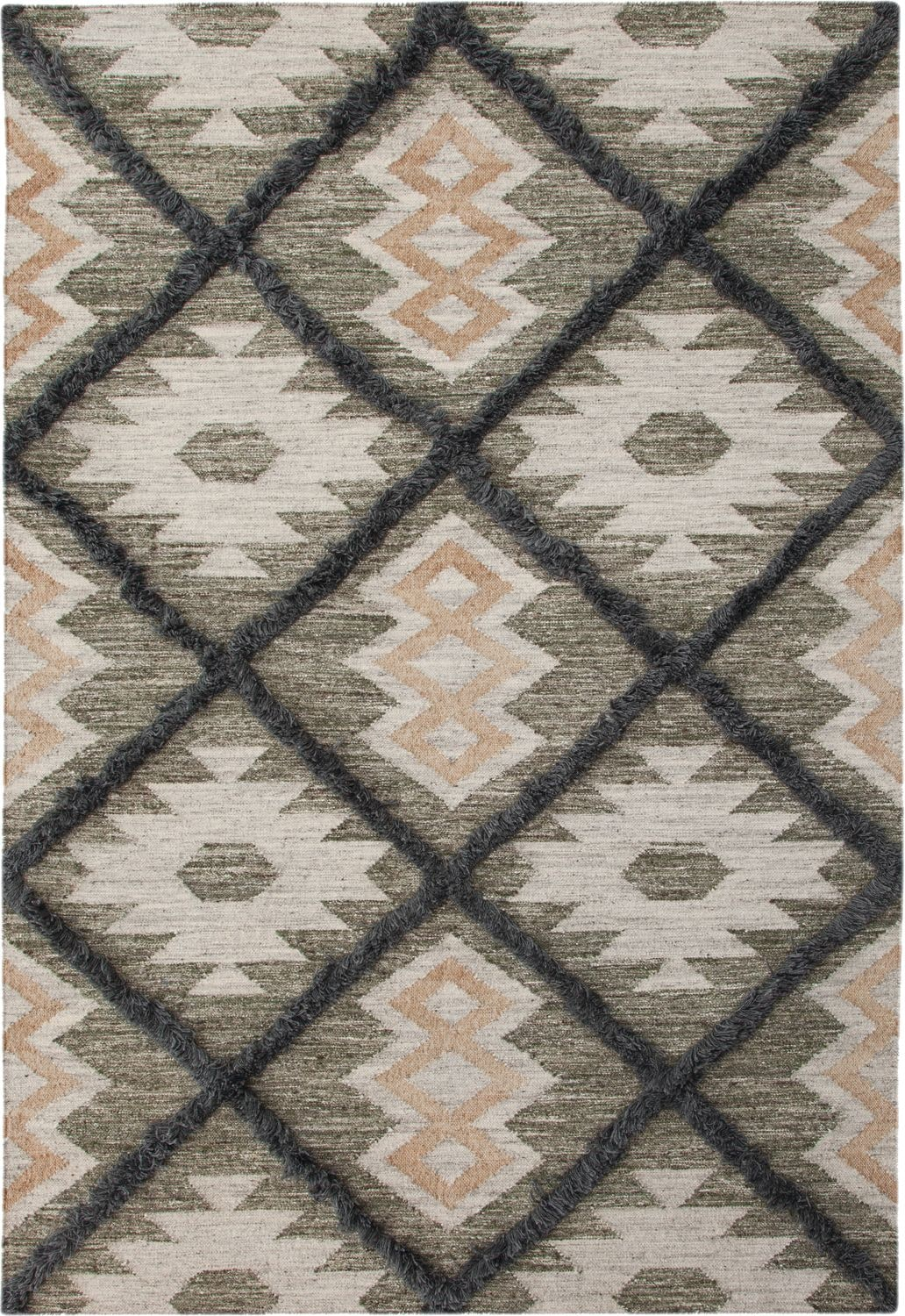 Rugs - Fes Area Rug - Blue/Green