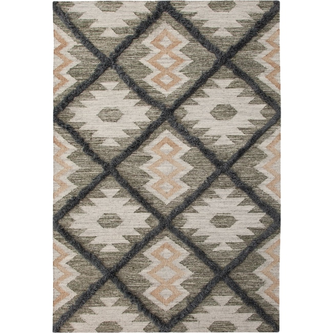 Rugs - Fes 8' x 10' Area Rug - Blue/Green