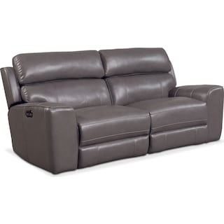 Newport 2-Piece Dual-Power Reclining Sofa - Gray