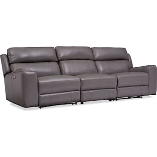 Newport 3-Piece Dual-Power Reclining Sofa - Gray