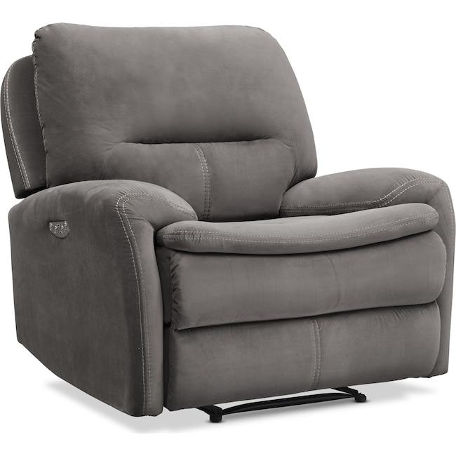 Living Room Furniture - Cruiser Dual Power Recliner - Coffee