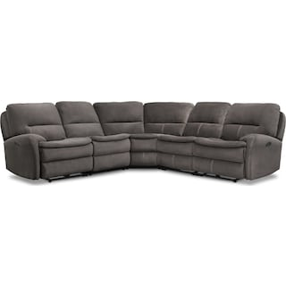 Cruiser 5-Piece Manual Reclining Sectional with 3 Reclining Seats - Coffee