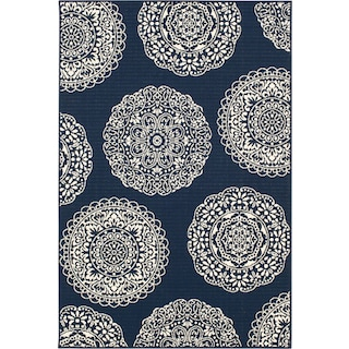 Anastasia 5' x 7' Indoor/Outdoor Rug - Navy/Ivory