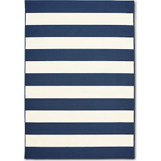 Awning 5' x 7' Indoor/Outdoor Rug - Navy