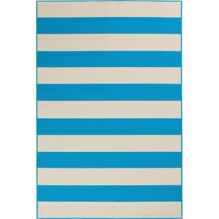 Awning 5' x 7' Indoor/Outdoor Rug - Turquoise