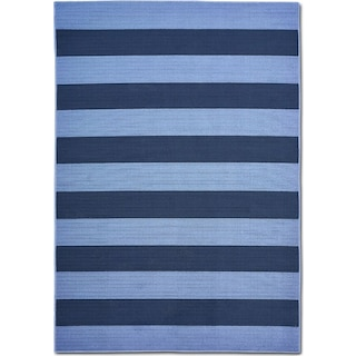 Awning 7' x 10' Indoor/Outdoor Rug - Blue/Navy