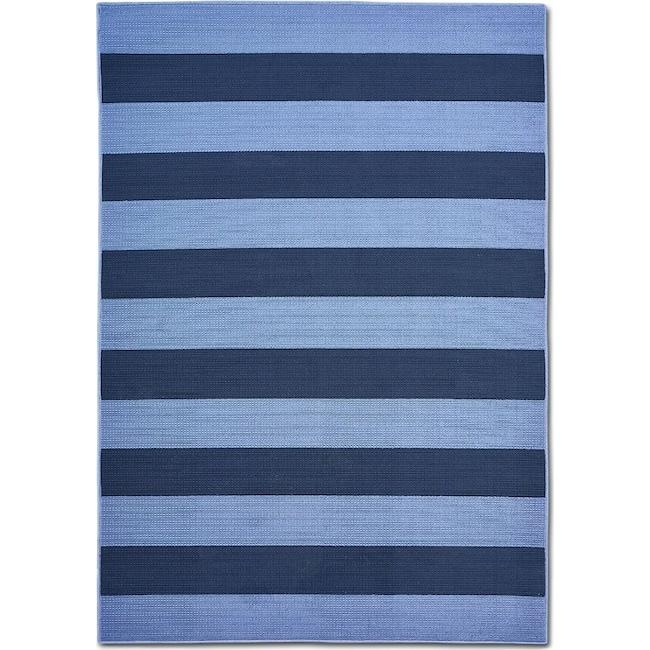 Outdoor Furniture - Awning 8' x 10' Indoor/Outdoor Rug - Blue/Navy